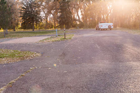 Denver, Colorado, USA-October 26, 2014. Camping in late Autumn in Colorado. Sajtókép