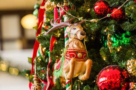 christmas in denver: Remodeled historical Union Station in Denver, Colorado.