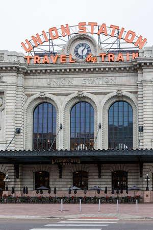 denver colorado: Denver, Colorado, USA-November 23, 2014. Remodeled historical Union Station in Denver, Colorado. Editorial