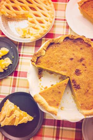 Fresh homemade pie made from organic berries. photo