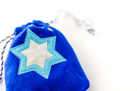 shield of david: Handmade bag with Star of David on a white background.