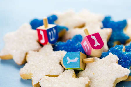 khanukah: Hanukkah white and blue stars hand frosted sugar cookies,
