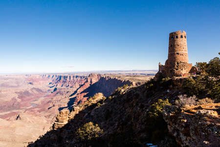 View of grand Canyon from South Rim in the Winter. photo