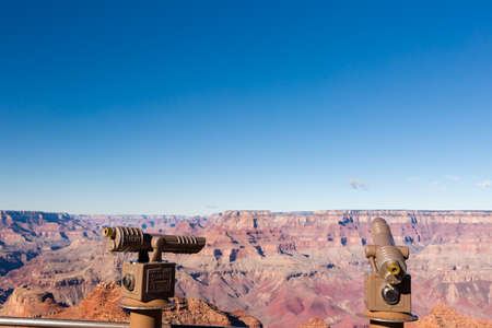 View of grand Canyon from South Rim in the Winter. Stock Photo