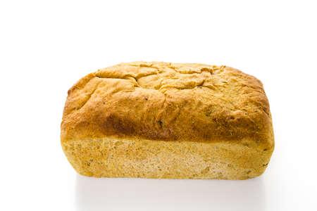 rye bread: Fresh artisan sourdough rye bread on the table.