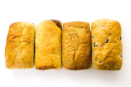 Fresh artisan sourdough breads on the table. Imagens - 35684360