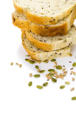 Fresh artisan sourdough seeded bread on the table. Imagens - 35684610
