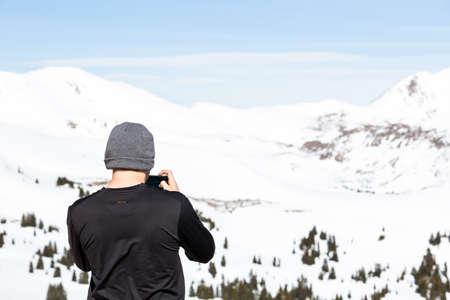 loveland pass: Loveland Pass, Colorado, USA-March 15, 2015. Typical weekend at Loveland pass on late Winter day.