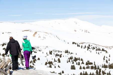 loveland: Loveland Pass, Colorado, USA-March 15, 2015. Typical weekend at Loveland pass on late Winter day.