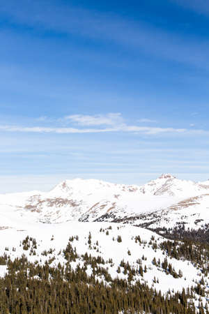 Typical weekend at Loveland pass on late Winter day.