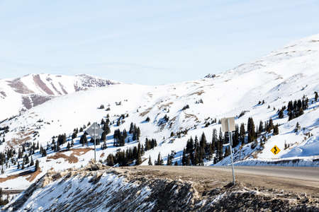 loveland pass: Typical weekend at Loveland pass on late Winter day.