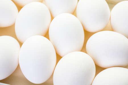 pasch: Fattoria freschi uova bianche organici. Archivio Fotografico
