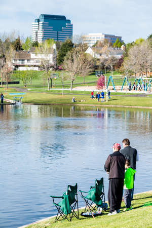tommy: Annual Fishing Derby at Tommy Davis Park, Greenwood Village, Colorado. Editorial