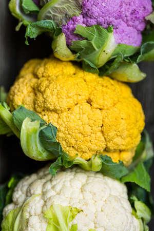 caulis: Rainbow of organic cauliflower from the local market.