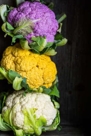 vegetabilis: Rainbow of organic cauliflower from the local market.
