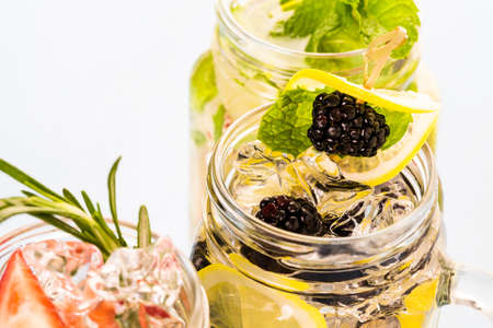 vegetus: Fresh infused water made with organic ccitruses and berries.