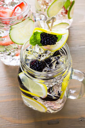 caneberries: Fresh infused water made with organic ccitruses and berries.