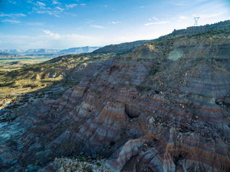 mesa: Aerial view of mountains at Grand Mesa Scenic Byway near Grand Junction, Colorado.