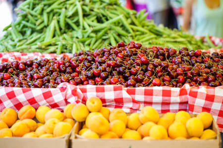 farmers: Fresh organic produce at the local farmers market.