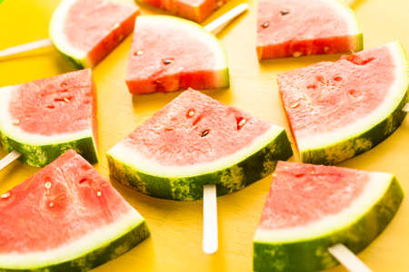 popsicles: Yummy watermelon slice popsicles for refreshing treat.