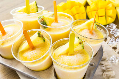 low  calorie: Homemade low calorie made with mando, pineapple and cocconut milk.