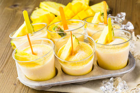 the calorie: Homemade low calorie made with mando, pineapple and cocconut milk.