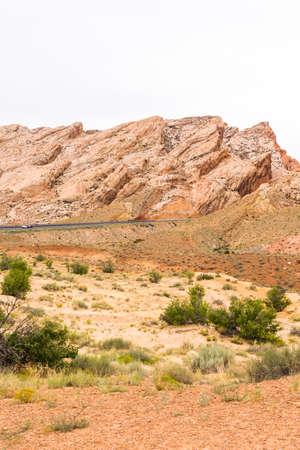 green river: Red rock formation along I70 near Green River, Utah.