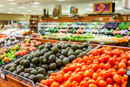 store: Denver, Colorado, USA-August 19, 2015. Fresh produce at the local grocery store.