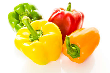 piperaceae: Bell peppers on a white background.