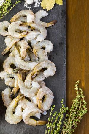 camaron: Materia prima para preparar risotto de ma�z con camarones asados.