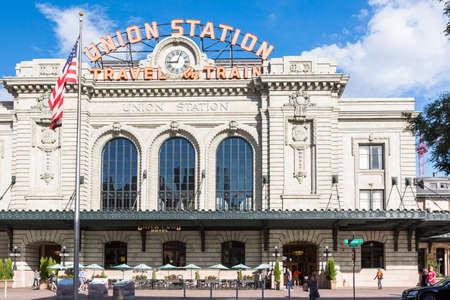 renovated: Denver, Colorado, USA-September 7, 2015. Renovated Union Station in Downtown Denver, Colorado.