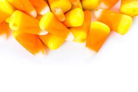 candy corn: Candy corn prepared as Halloween treats.