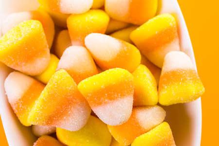 treats: Candy corn prepared as Halloween treats.