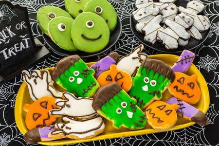 treats: Variety of sweets prepared as Halloween treats.