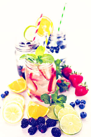 infused: Infused water with fresh organic berries.