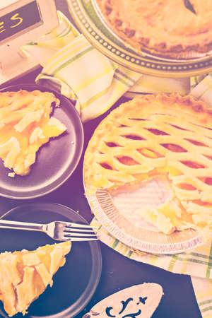 Fresh homemade pie made from organic berries. Stock Photo