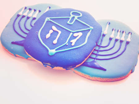 jewish home: Gourmet cookies decorated for Hanukkah.