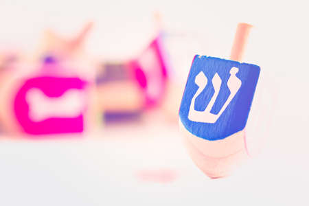 dreidel bears: A still life composed of elements of the Jewish ChanukahHanukkah festival.