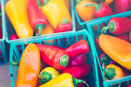 piperaceae: Fresh produce at the local Farmers Market. Stock Photo
