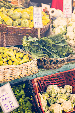 caulis: Fresh organic produce at the local farmers market.