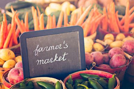 farmers: Fresh produce on sale at the local farmers market.