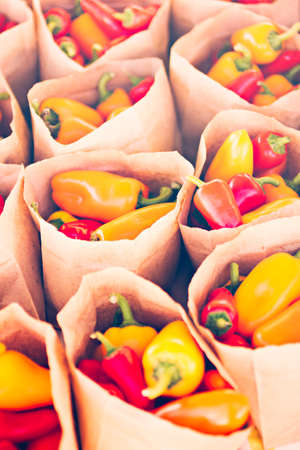 piperaceae: Fresh produce on sale at the local farmers market.