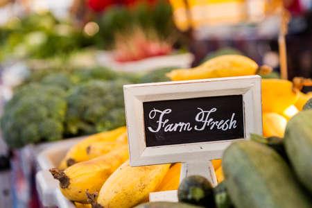 farmers: Fresh organic produce on sale at the local farmers market.