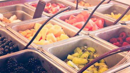 toppings: Toppings for frozen yogurt.