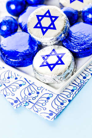 Chocolates with Star of David for Hanukkah.