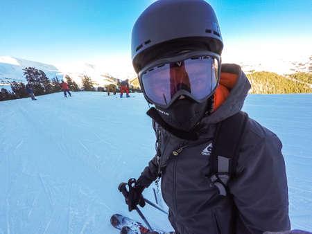eisenhower: Loveland Basin, Colorado, USA-January 3, 2016. Alpine skiing at Loveland Basin ski resort in Colorado.