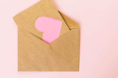 mode made: Hand crafted Valentines Day card from recycled paper.