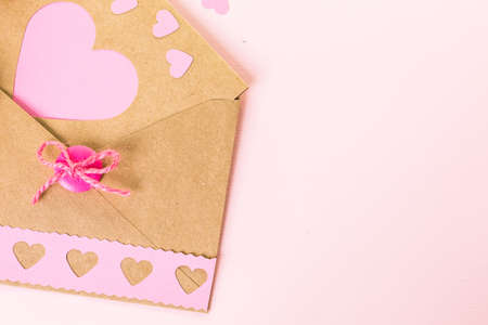 nad: Hand crafted Valentines Day card from recycled paper.