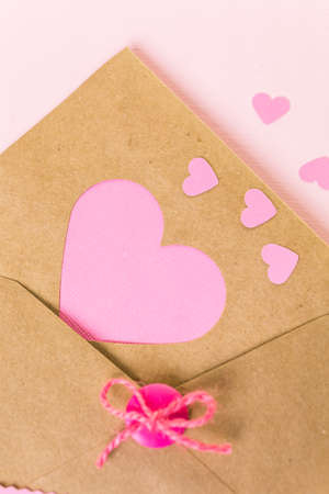 crafted: Hand crafted Valentines Day card from recycled paper.