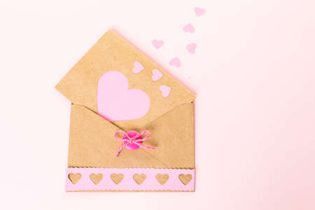 hand crafted: Hand crafted Valentines Day card from recycled paper.